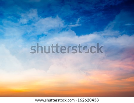 Fantasy Colorful Sky in Sunset and Sunrise Time