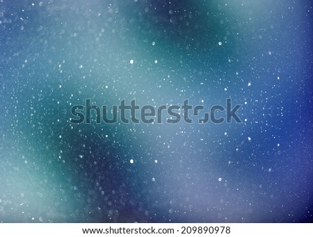 Fantasy deep space nebula with stars of a planet and galaxy in a free space. - stock photo