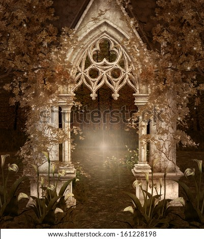 Fantasy entrance - stock photo