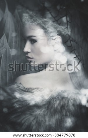 fantasy fairy beautiful woman portrait composite photo