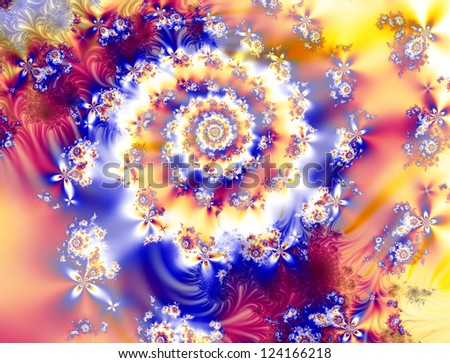 Fantasy fractal and abstract - stock photo