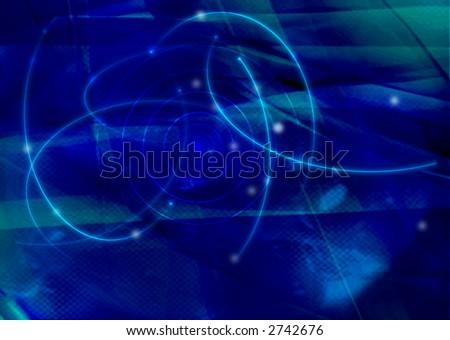fantasy galaxy - stock photo