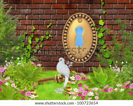 fantasy garden - stock photo
