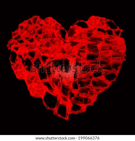 Fantasy heart broken glass isolated on stock photo image royalty fantasy heart from broken glass isolated on black background voltagebd Gallery