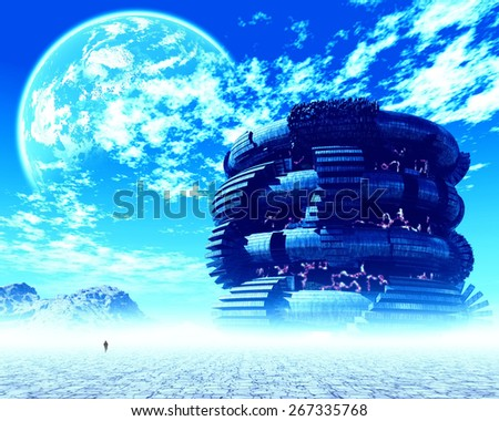 Fantasy landscape - stock photo