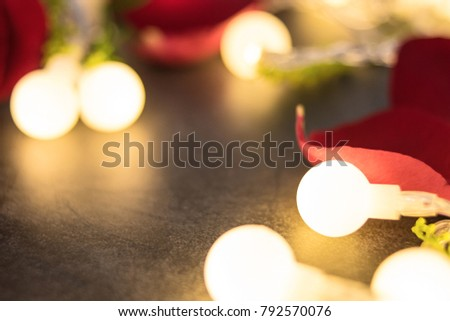 Fantasy Lights Rose Aesthetic Romantic Valentines Day Background Material