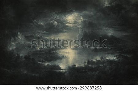 Fantasy night - stock photo