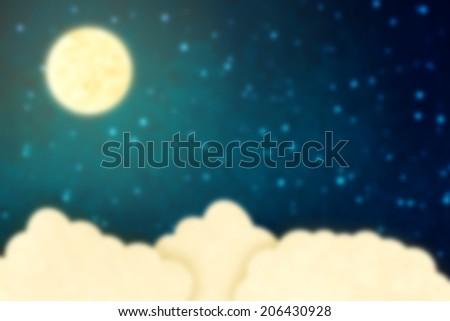 Fantasy sky background - stock photo