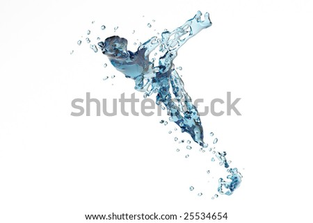 Fantasy soar Abstract water splash and bubble liquid