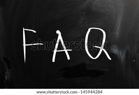 FAQ - stock photo