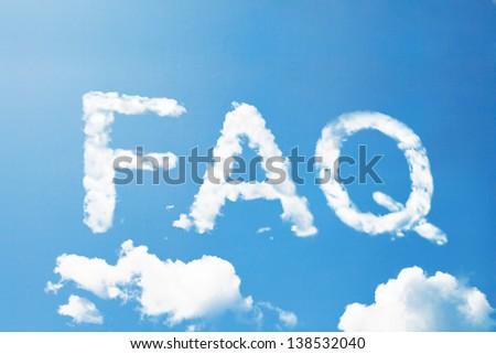FAQ cloud word - stock photo