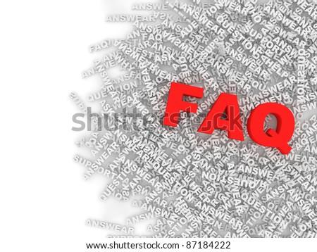 FAQ Concept Background - stock photo