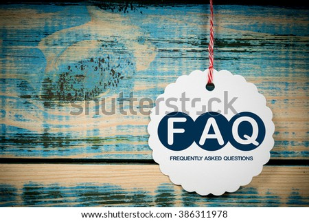 FAQ - frequently asked questions - stock photo