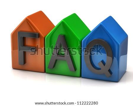 FAQ icon - stock photo