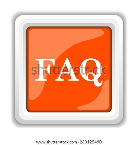 FAQ icon. Internet button on white background.  - stock photo