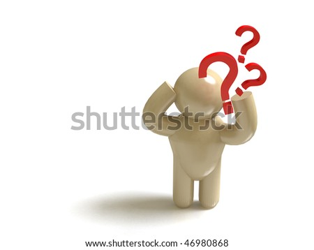 FAQ man - stock photo