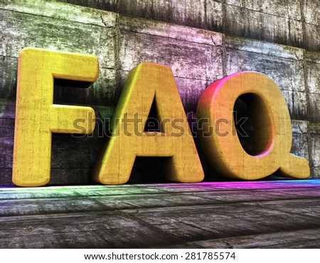 Faq Online Indicating World Wide Web And Info Internet - stock photo