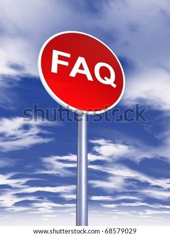 faq sign traffic - stock photo