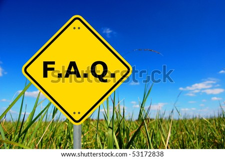 faq written on yellow road sign with copyspace - stock photo