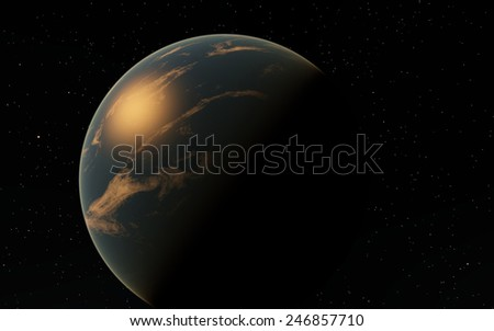 Far away planet or moon