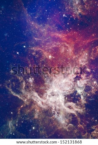 "Far being shone nebula and star field against space. ""Elements of this image furnished by NASA"" - stock photo"