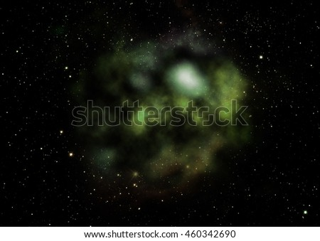 "Far being shone nebula and star field against space. ""Elements of this image furnished by NASA"". - stock photo"