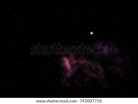 "Far being shone nebula and star field against space. ""Elements of this image furnished by NASA""."