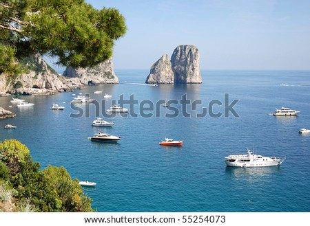 Faraglioni of Capri island, italy - stock photo