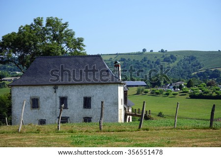 Farm house and pasture in France
