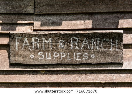 farm & ranch store wood sign
