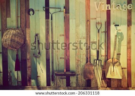Farm tools. - stock photo