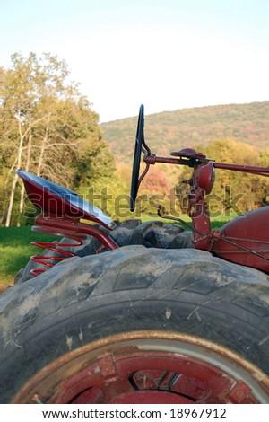 farm tractor - stock photo