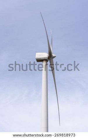 farm windmills in nature with sky background