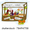 Farmers market. - stock vector