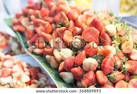farmers market series - fresh strawberries (select focus)
