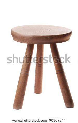 farmers milking stool - stock photo