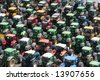 Farmers protest in Brussels - june 18, 2008 - stock photo