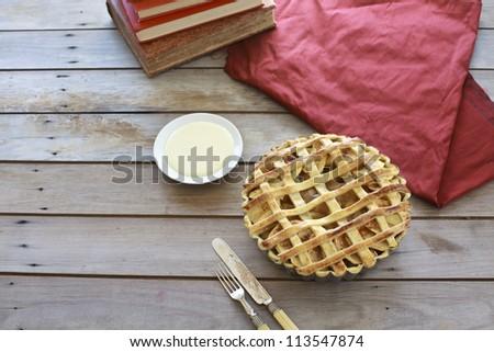 Farmhouse apple pie - stock photo