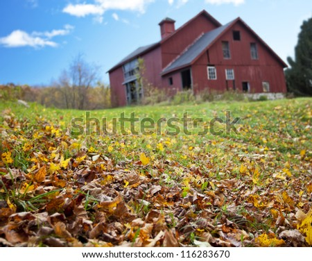 Farmhouse in the Fall - stock photo