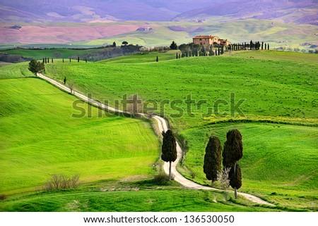 Farmhouse in Tuscany - stock photo