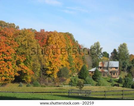 Farmhouse in upstate NY. - stock photo