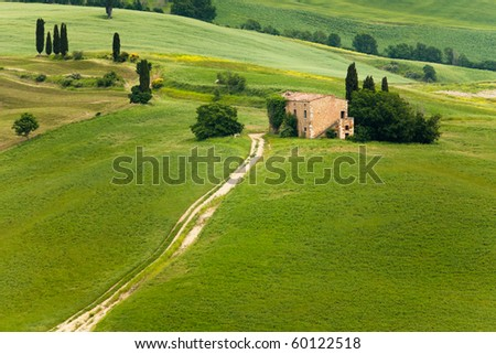 Farmhouse on countryside in Tuscany, Italy