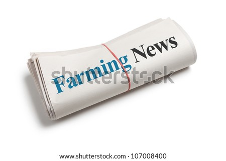 Farming news,  Newspaper Roll with white background