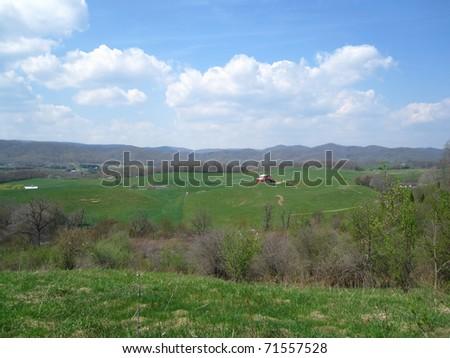 Farmland along the Appalachian Trail - stock photo