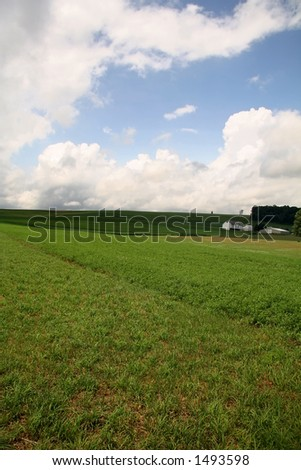 Farmland Hills - 6 - stock photo