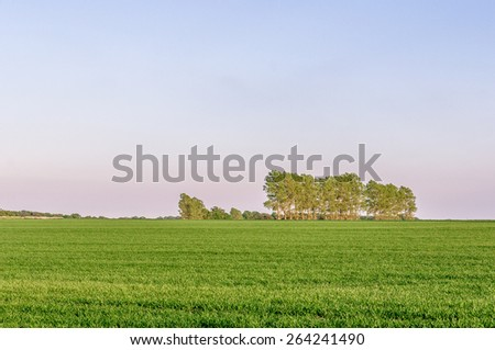 Farmland in rural Suffolk, UK - stock photo