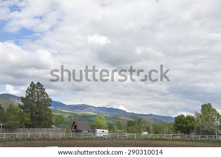 Farmland in the wasatch mountains just north of salt lake city utah