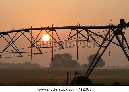 Farmland Sunrise - stock photo