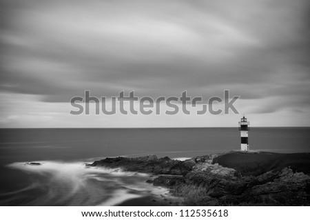 Faro Illa Pancha (Ribadeo) - stock photo