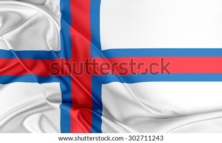Faroe Islands Flag. Flag with a beautiful glossy silk texture.